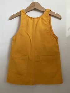 ARKET KIDS Baby Pinafore Yellow Dress Cotton Twill Patch Pocket 80cm 9-12m