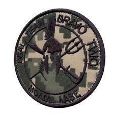 Bravo ST2 Molon Labe Seal Team Two ACU navy seals spartan toppa hook patch