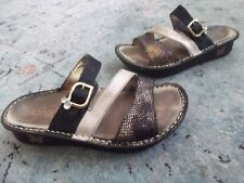 ALEGRIA Black/ Bronze Colette Comfort Col-781 Mosaic Sandals sz. 37/7 .5