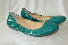 J CREW CECE BALLET FLATS DUSTY JADE GREEN SIZE 7 PATENT LEATHER $125