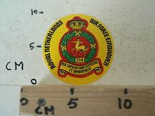 STICKER,DECAL ROYAL NETHERLANDS AIR FORCE EINDHOVEN 314 PER SAPIENTIAM EFFICIENS