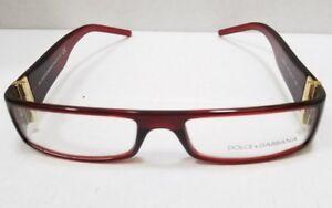 Dolce & Gabbana Eyeglasses RX DG 877 955 54-17 130 Dark Red New Authentic