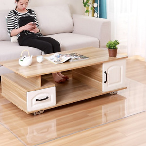 PVC Floor Mat Transparent Carpets Wooden Floor Protection Rugs Chair Floor Mats