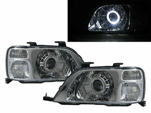 CR-V CRV RD1-RD3 96-01 Guide LED Halo Projector Headlight Chrome for HONDA LHD