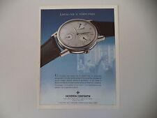 advertising Pubblicità 1998 VACHERON CONSTANTIN RESERVE DE MARCHE