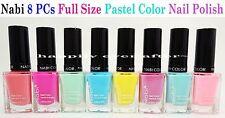 Nabi Pastel Color Nail Polish Set - Full Size 8 PCs Color Set *US SELLER*