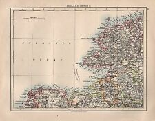 1897 VICTORIAN MAP ~ IRELAND NORTH WEST ~ DONEGAL TYRONE MAYO