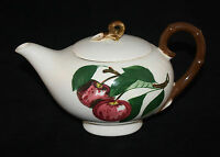 METLOX POPPYTRAIL CALIFORNIA APPLE ALADDIN SHAPE TEAPOT TEA POT VINTAGE
