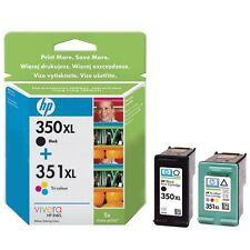 Refilled HP 350XL Black + HP 351XL Colour Ink Cartridge Remanufactured Inkjet.