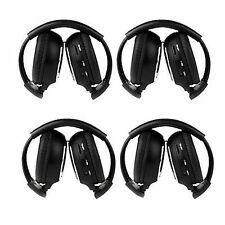 Us 4Pcs Infrared Stereo Wireless Headphone for Car Dvd Player & Headrest Black