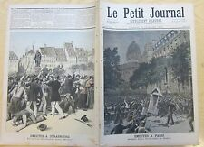 Le petit journal 1893 138 Emeutes à Paris Prefecture de police + strasbourg