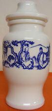 Pot à épices vintage verre opalin blanc ARIEL décors chinois pagode