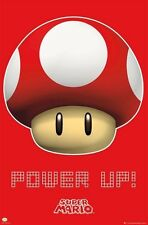 POWER UP! SUPER MARIO BROS MAGIC MUSHROOM NINTENDO POSTER (61x91cm)  PICTURE ART