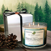 Handmade Premium Grade Pine Scented Soy Candle, Smells AMAZING! Free Gift Box!