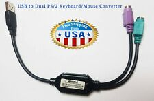 Inland- Black USB to Dual PS/2 Keyboard/Mouse Converter Cable Active Adapter.
