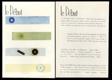 1929 Richard Hudnut le Debut makeup compact art deco vintage print ad