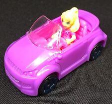 Polly Pocket Mini 💛 Wheel 50 Race convertible + Polly auto mattel 2007