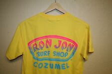 MENS ron jon surf shop neon cozumel mexico yellow T-SHIRT Size SMALL