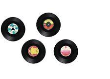 SET OF 4 VINYL RECORD STYLE COASTERS