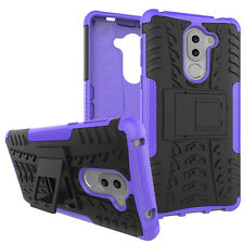 Shockproof Rugged Rubber Hybrid Armor Hard Case Stand Cover For Huawei Honor 6X