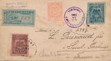 Lettre Entier recommandé Servicio Postal Ferreo Colombia France Cover Brief