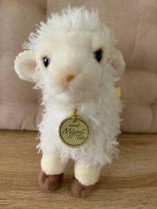 "AURORA ""Miyoni Tots"" 2017 Lamb Baby Sheep Small White Plush Soft Toy 20cm"