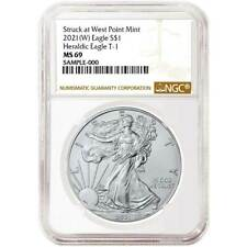 2021 (W)  $1 American Silver Eagle NGC MS69 Brown Label