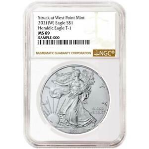 Presale - 2021 (W)  $1 American Silver Eagle NGC MS69 Brown Label