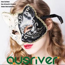 Black Gold Cat Mask Costume Masks Masquerade Eye Mask Ecofriendly PVC Party Mask