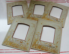5 Lovely Aesthetic Antique Photo Album Pages Frames Spider Webs Bees Wildflowers