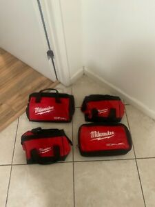Lot of 4 Milwaukee Tool Bags