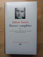 La Pléiade Julien Green Complete Works Tome III 1973