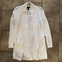 White House Black Market Women's White Sweater Medium. Preowned