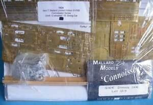Mallard Models Brass White Metal 4mm #1219 GWR 12 Wheel 70' Dining Car Coach Kit