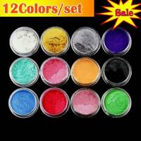12 Colors /Set Mica Pigment Powder Perfect For Dye Resin Color Soap