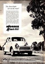 "1968 MORRIS MINI MATIC BMC AD A4 CANVAS PRINT POSTER 11.7""x8.3"""