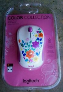 Logitech® Design Collection Wireless Mouse, Spring Meadow New in Sealed Package