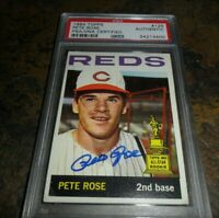 1964 TOPPS #125 PETE ROSE CINCINNATI REDS AUTHENTIC AUTO SIGNED 2nd YEAR PSA/DNA