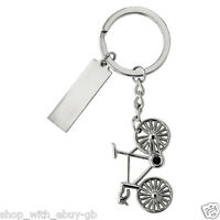 Metal Bike Cycling Cycle Keyring Keychain Bicycle Gift Suitable to Personalise