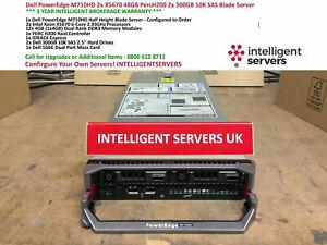Dell PowerEdge M710HD 2x X5670 6 Core 48GB H200 2x 300GB 10K SAS Blade Server