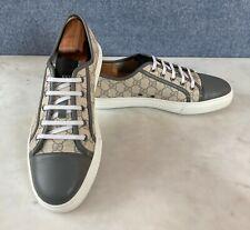 Gucci Men's GG Supreme Guccissima Gray Sneakers Size 11 G = 12 US *Authentic*