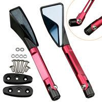 Pair Rear View Side Mirrors For Suzuki 01-04 GSXR 1000 01-05 GSXR 600 Red