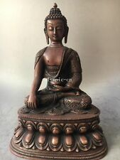 14'' red copper carvings dragon Buddhism tathagata Sakyamuni Amitabha buddha