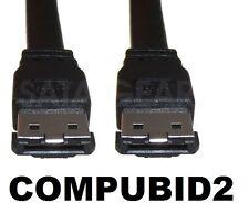SATA Negro 2 Cable de datos externos eSATA SATA externo duros y gabinete