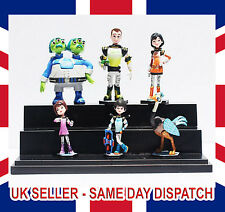 6pcs set Miles From Tomorrow land Missions Figures Miles, Merc, Watson and crick