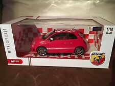 Mondo Motors 1:18 Fiat Abarth 500 Red and White Checkers