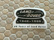 LAND ROVER OFFICIAL CAR STICKER 1948 - 1998 50 YEARS ANNIVERSARY STICKER NEW.