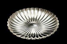 More details for vintage elkington silver plated scallop shaped centrepiece dish