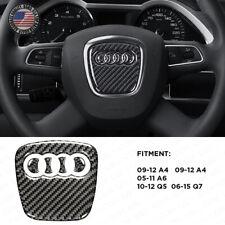 For Audi A4 A5 Q5 Q7 3D Carbon Fiber Steering Wheel Horn Logo Badge Emblem Sport (Fits: Audi)