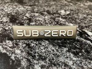 SUB ZERO SUBZERO SUB-ZERO FRIDGE FREEZER EMBLEM NAMEPLATE WITH PINS DECAL LOGO